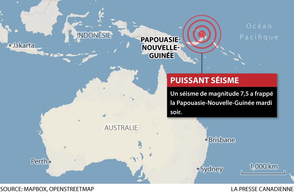 Alerte au tsunami levée après un puissant séisme