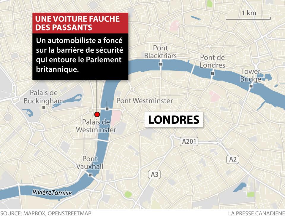 Une voiture fauche des passants à Londres