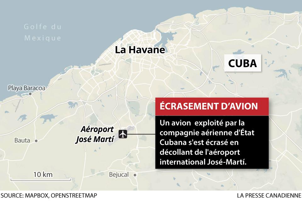 Écrasement d'avion à Cuba