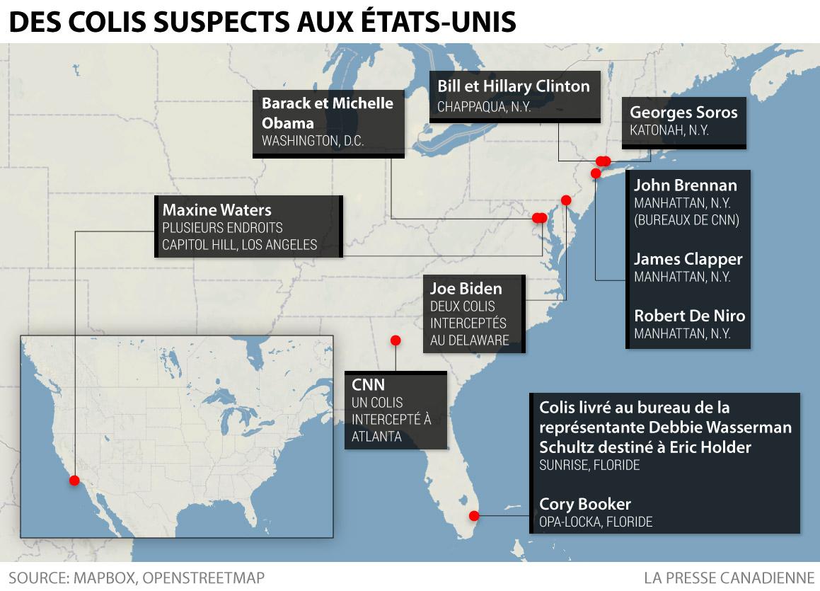 Colis suspects aux États-Unis