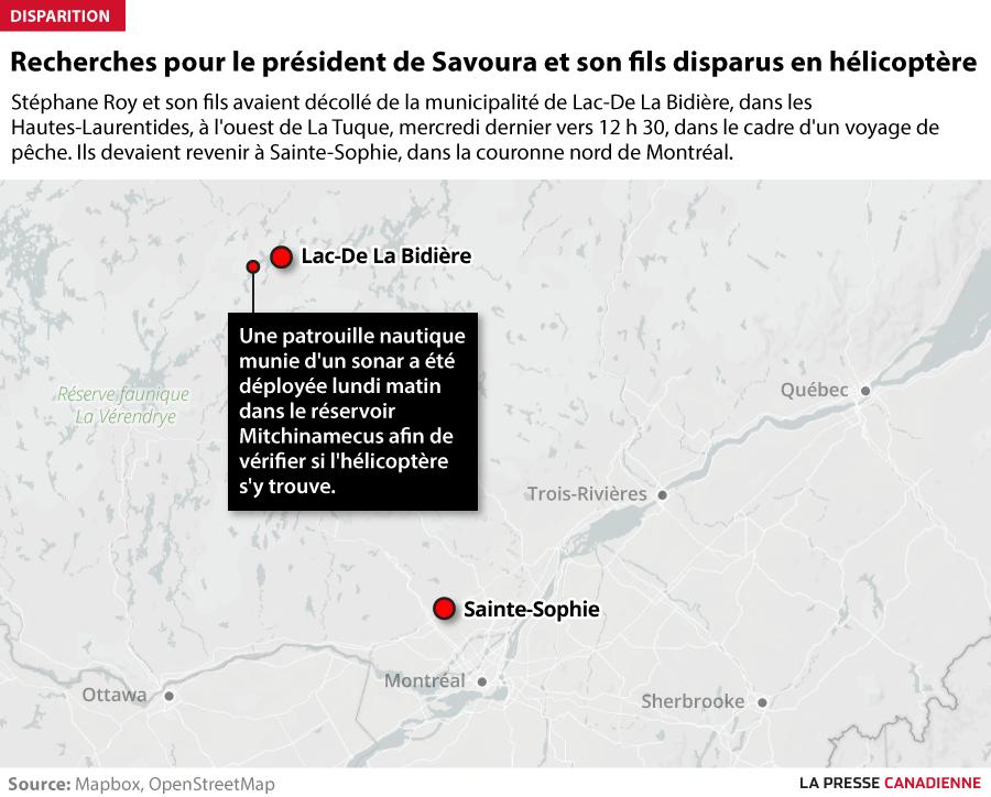 Recherches pour le président de Savoura et son fils