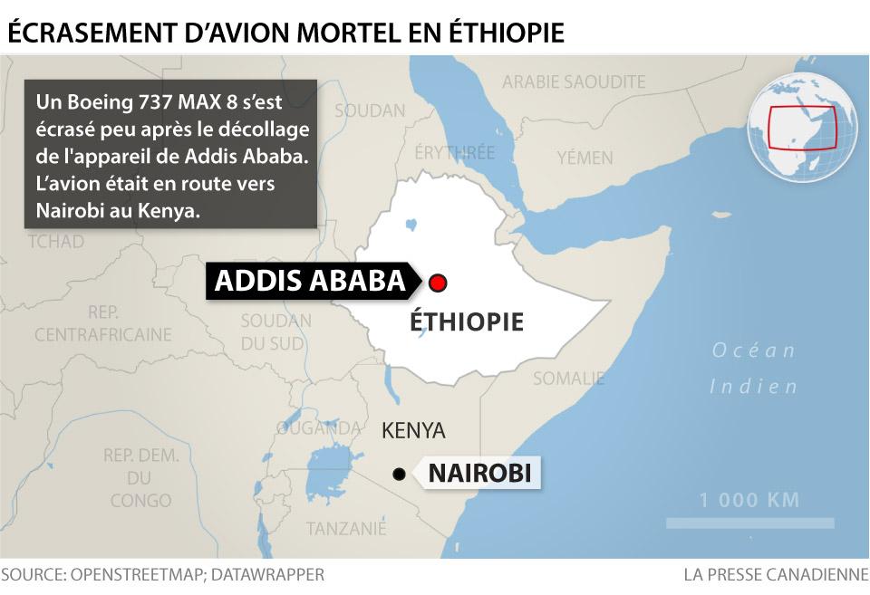 Écrasement d'avion en Éthiopie