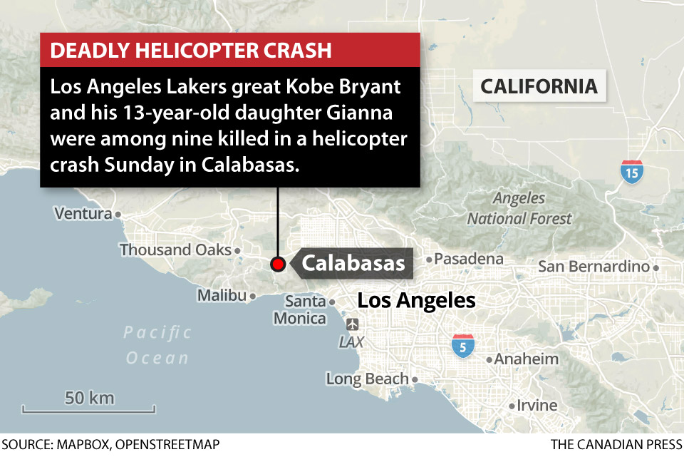 KOBE BRYANT HELICOPTER CRASH