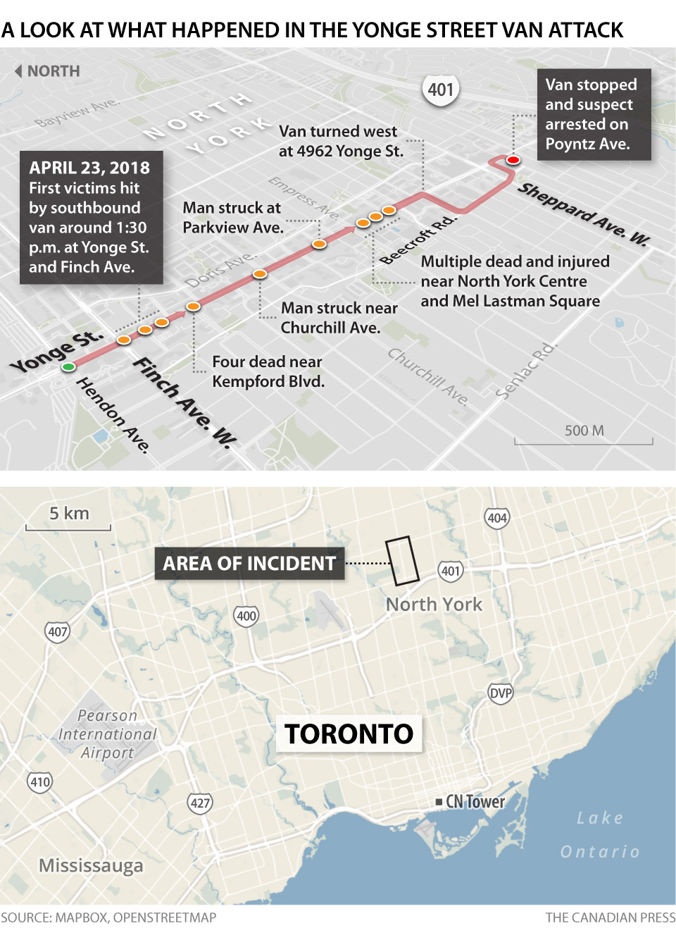 TORONTO VAN ATTACK MAP